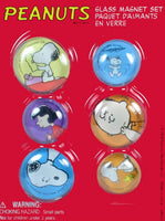 Peanuts Gang Glass Magnet Set