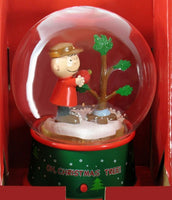 Charlie Brown Musical & Lighted Christmas Snow Globe - Small