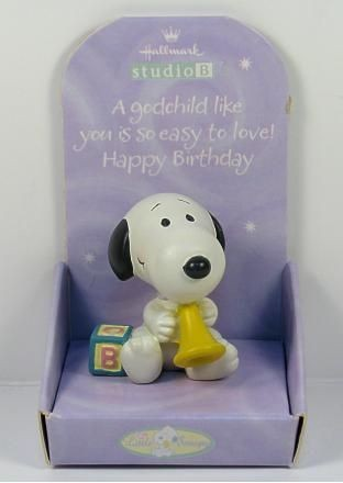 Little Snoopy Birthday Figurine - Godchild