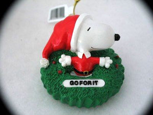 SNOOPY GO FOR IT ORNAMENT