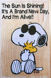 Snoopy Woodstock Hug RUBBER STAMP