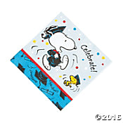 Snoopy Graduation Dinner Napkins - ON SALE!