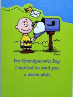 Grandparents Day Card - Charlie Brown and Snoopy