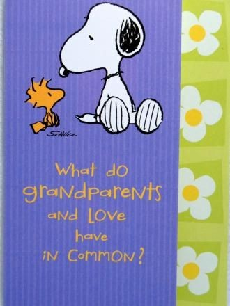 Grandparents Day Card - Snoopy and Woodstock