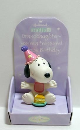 Little Snoopy Birthday Figurine - Granddaughter