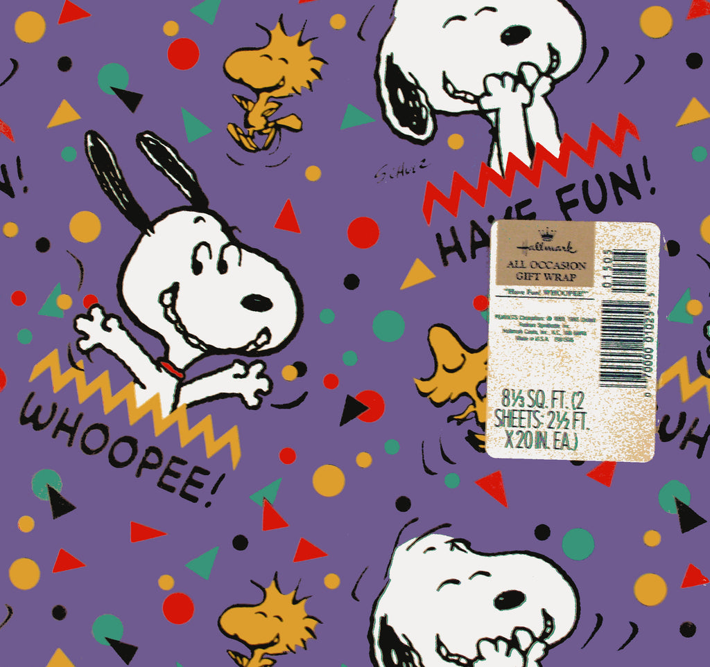 Snoopy Vintage Gift Wrap - Whoopee!