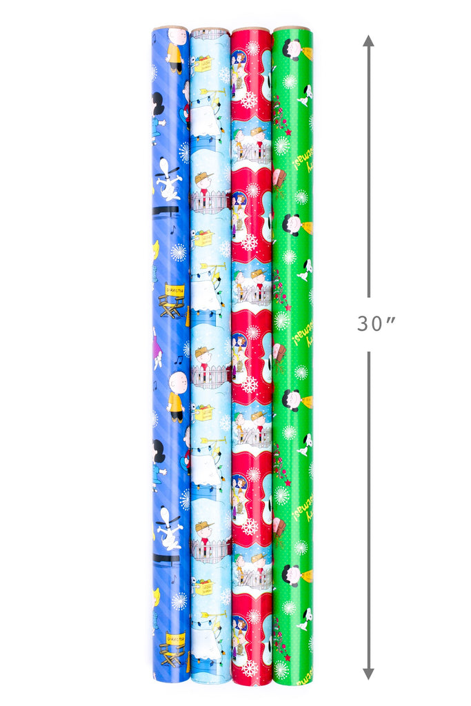 Peanuts Gang Holiday Heavyweight Super Mega Gift Wrap Roll - 110 Sq. Feet!