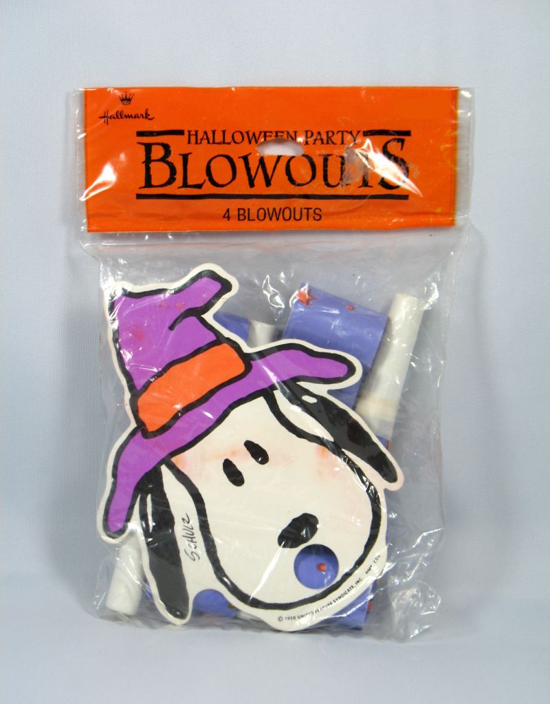 Snoopy Halloween Party Blowout Horns (*Open package)