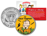 Peanuts Halloween JFK Kennedy Half Dollar U.S. 3-Coin Set - Licensed