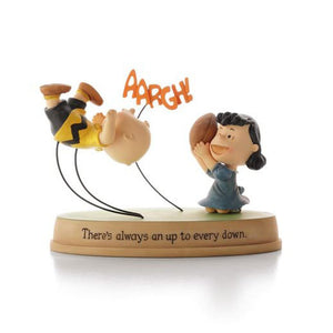 Hallmark Charlie Brown and Lucy Football Figurine