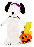 Snoopy and Woodstock Lighted Halloween Inflatable - Over 6 Feet Tall!