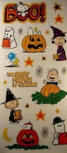 Peanuts Gang Halloween Die-Cut Stickers
