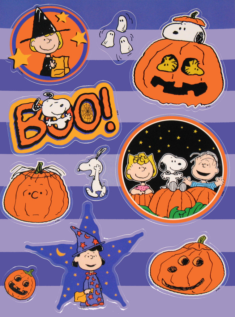 Peanuts Gang Halloween Window Clings