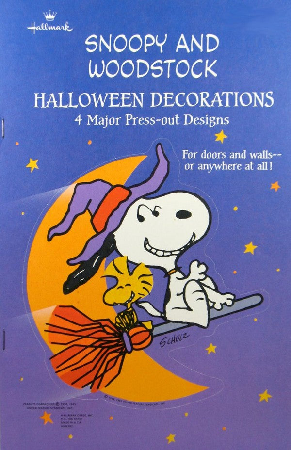 Snoopy and Woodstock Halloween Wall Decorations