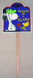 Snoopy Halloween Yard Sign / Wall Decor - Beware