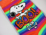 Kids Snoopy Halloween Socks With Glitter Accents (Size 7 1/2 - 3 1/2)