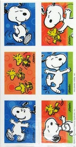 Dancing Snoopy and Woodstock Stickers - Special Low Price!