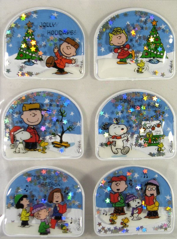 Peanuts Gang Puffy 2-D Holiday Stickers