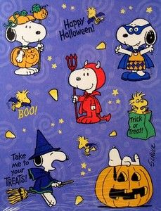 Snoopy in Halloween Costumes Stickers