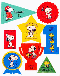 Snoopy and Woodstock Rewards Stickers