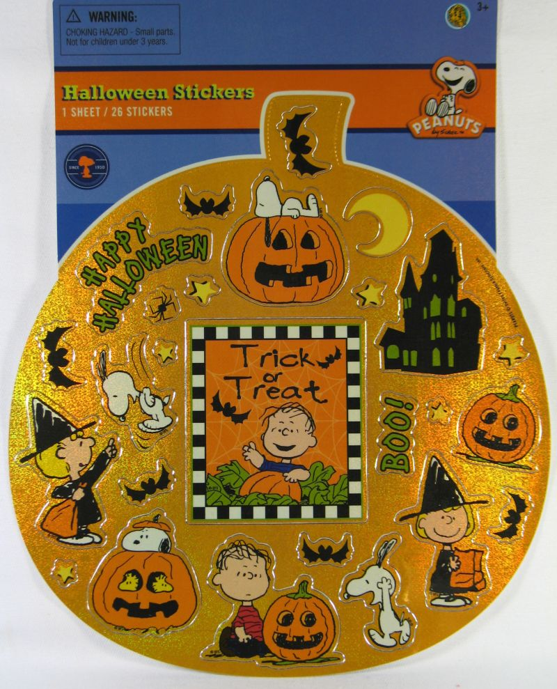 Peanuts Gang Halloween Stickers