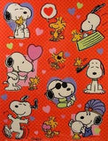 Snoopy and Woodstock Love Stickers
