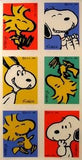 Snoopy and Woodstock Laughing Stickers