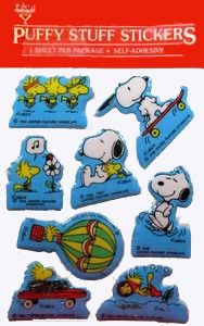 Snoopy and Woodstock Puffy Stickers