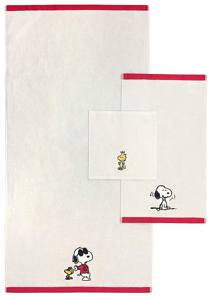 Happy Snoopy Embroidered Hand Towel