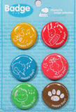"""HAPPY DAY"" PINBACK BUTTON SET"