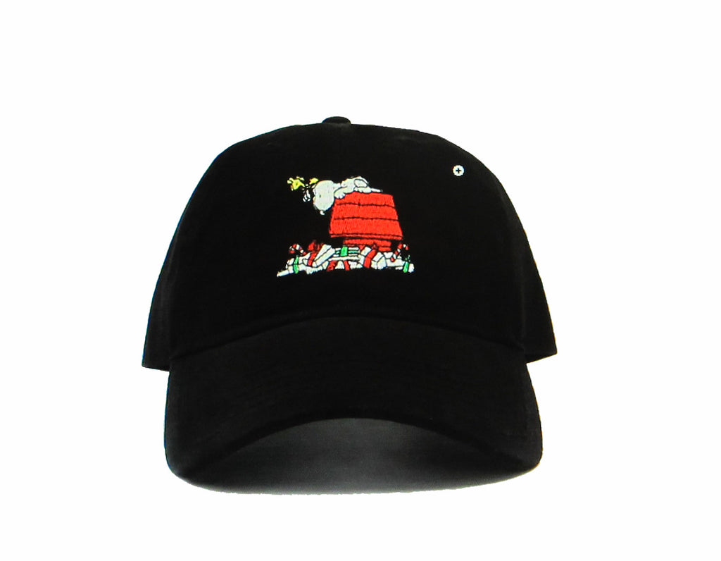 Snoopy Embroidered Christmas Ball Cap