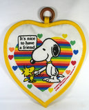 Snoopy Vintage Heart-Shaped Hot Pad / Pot Holder