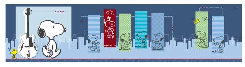 Lambs & Ivy Hip Hop Snoopy Wallpaper Border (*Open Roll)