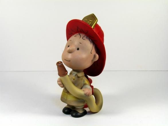 Hallmark Figurine:  Firefighter Pig Pen