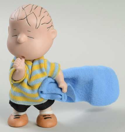 Hallmark Limited Edition Jointed Porcelain Figurine:  Linus