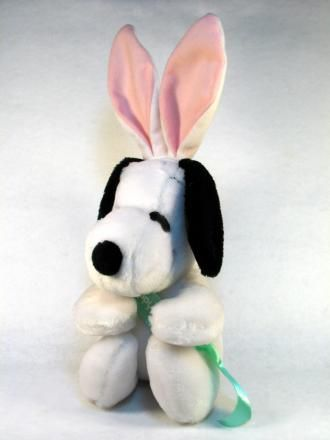 Snoopy Plush Easter Doll With Bendable Ears