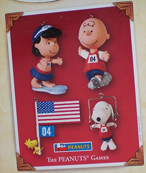 2004 The Peanuts Games Christmas Ornament Set
