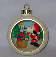 1983 Snoopy Panorama Christmas Ornament - RARE!