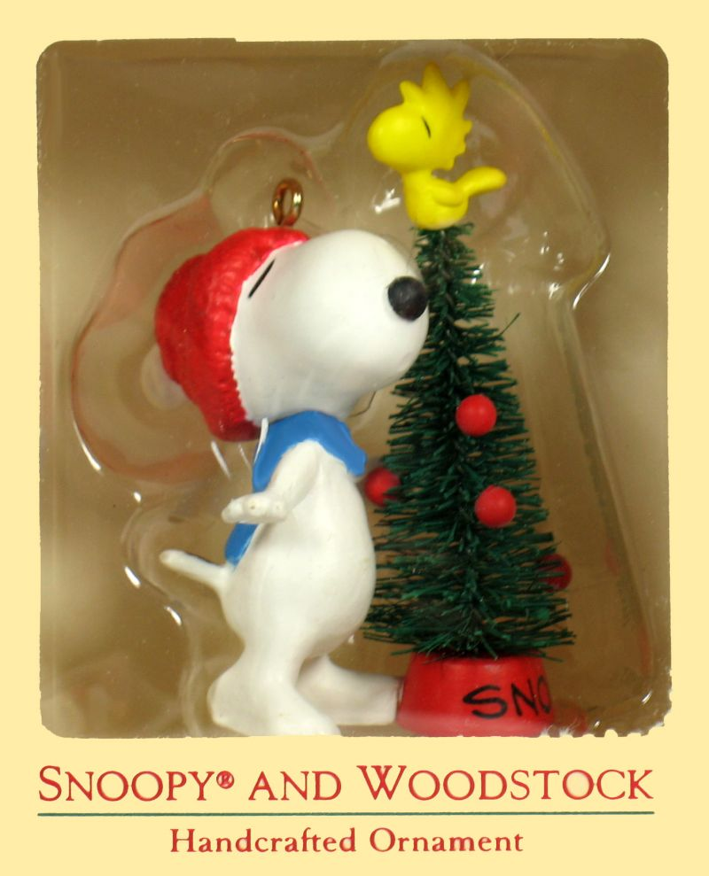 1987 Snoopy and Woodstock Christmas Ornament