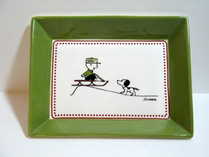 Limited-Edition Ceramic Dish - Charlie Brown and Snoopy