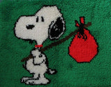 Snoopy Hobo Latch Hook Wall Hanging / Rug