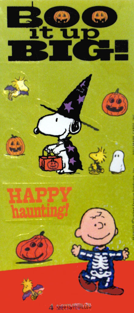Peanuts Gang Holographic Halloween Stickers