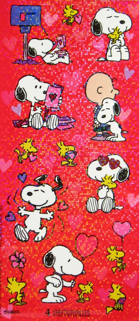 Peanuts Gang Holographic Valentine's Day Stickers