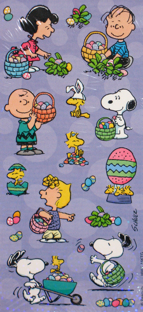 Peanuts Gang Holographic Easter Stickers