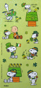 Peanuts Gang Holographic St. Patrick's Day Stickers