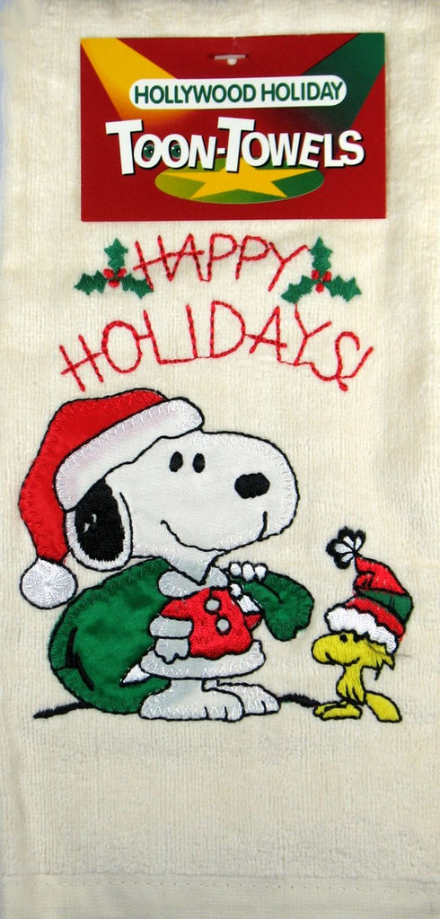 Snoopy Holiday Hand Towel