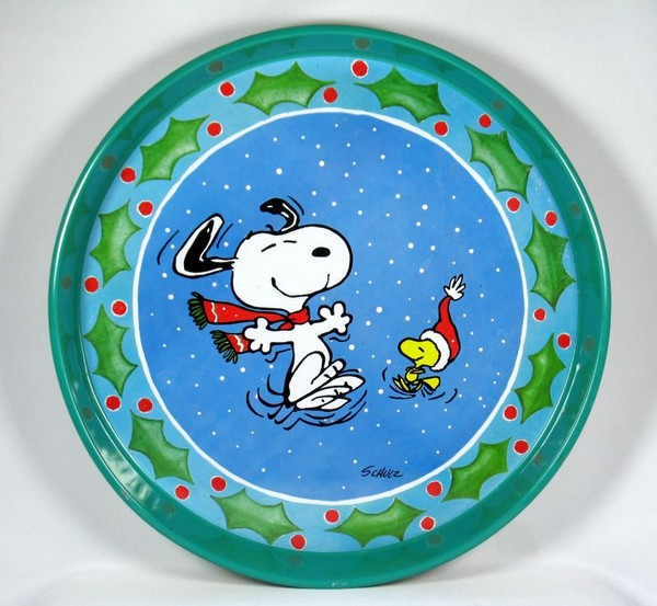 Snoopy Holiday Tin Serving Tray