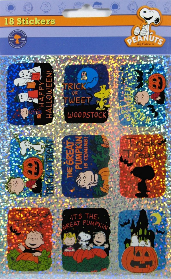 Peanuts Halloween Holographic Stickers