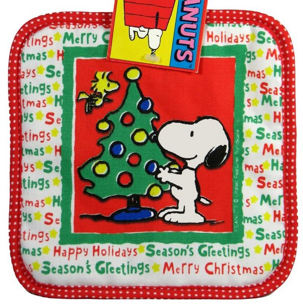 Snoopy Vintage Christmas Hot Pad / Pot Holder