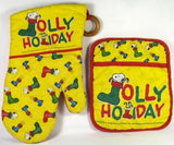 Snoopy Christmas Pot Holder / Hot Pad Set
